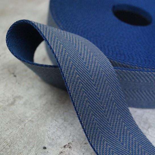 Fischgrät Gurtband 40mm breit - navy