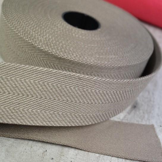 Fischgrät Gurtband 40mm breit - beige
