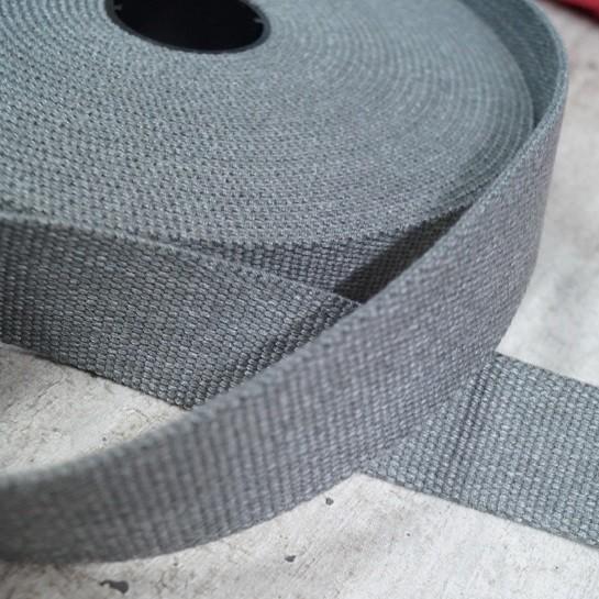 Meliertes Gurtband 30mm breit - hellgrau