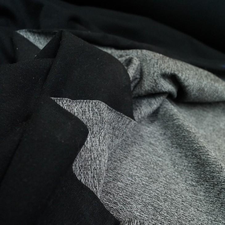 """Doubleface Jersey """"June"""" in schwarz-grau"""