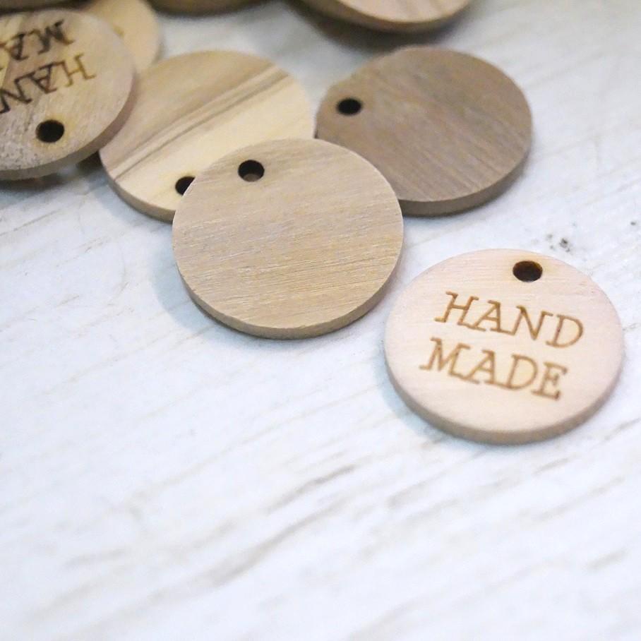 """Holzzierteil """"Hand Made"""""""