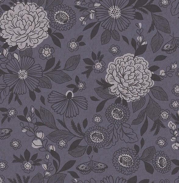 Cotton+Steel Canvas - Earth Garden - Amethyst Shadow