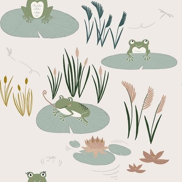 RJR Fabrics - Pond Life - Here little froggy - grass