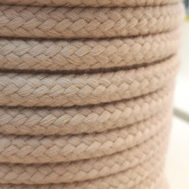 Baumwoll-Kordel - 10mm helles beige
