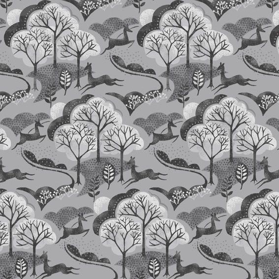 Trees in grau - Makower - Into the Woods