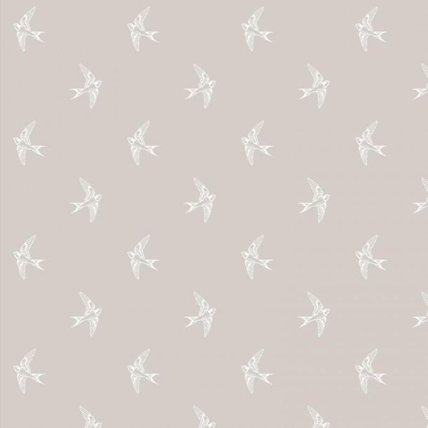 3 Wishes Fabrics - Schwalben taupe