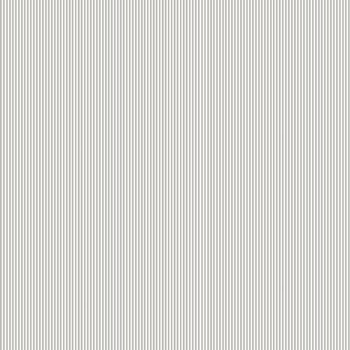 Reststück 94cmx112cm - Makower - Pinstripe - hellgrau-weiss