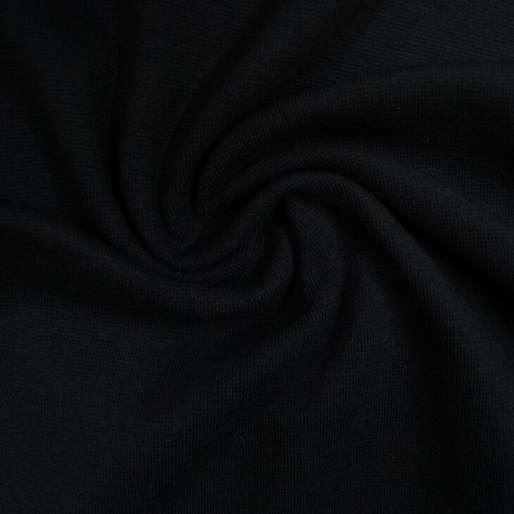 Glattes Bündchen im Schlauch - schwarz