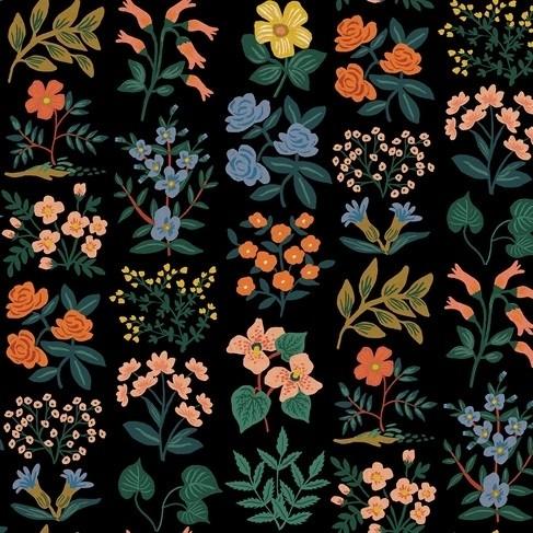 Cotton+Steel Canvas - Wildflower Field - Meadow black