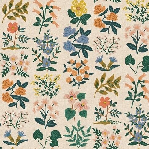 Cotton+Steel Canvas - Wildflower Field - Meadow cream