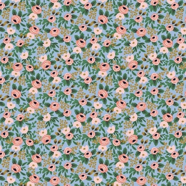 Cotton and Steel - Garden Party - Rosa Minis - chambray metallic