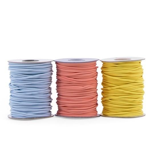 Rundgummi / elastische Kordel - 3mm - verschiedene Farben