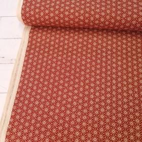 Baumwollstoff - Japanische Sterne - rot