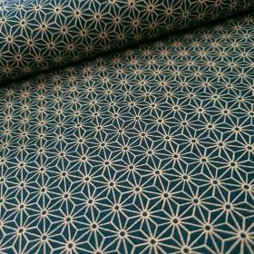 Baumwollstoff - Japanische Sterne - blau