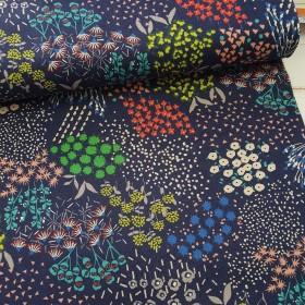Echino Canvas von Kokka - dunkelblau