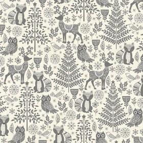 Makower - Scandi Forest Animals - grau