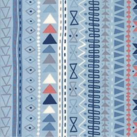 """Tribal Stripe"" sky - Wild and Free - Moda Fabrics"