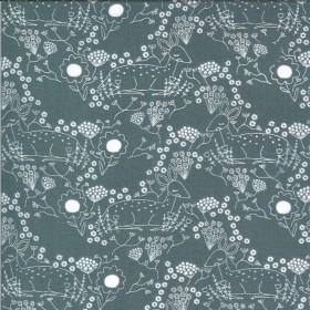 Meadow Deer sky - Dwell in Possibility von Gingiber - Moda Fabrics