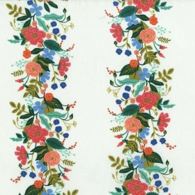 Cotton and Steel - Floral Vines - white