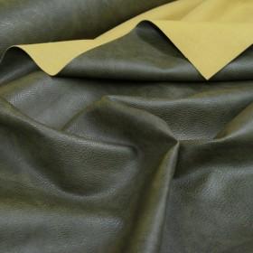 Kunstleder / Taschenleder - dunkles oliv