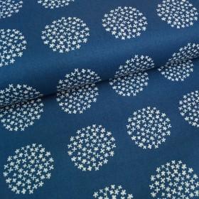 Heavy Canvas Flower dot - dunkelblau
