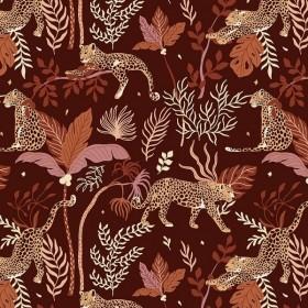 RJR Fabrics - Magic of Serengeti - Leopard - deep plum
