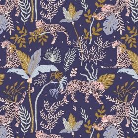 RJR Fabrics - Magic of Serengeti - Leopard - navy