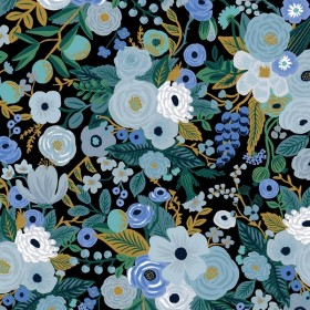 Cotton and Steel - Garden Party - Blue Fabric