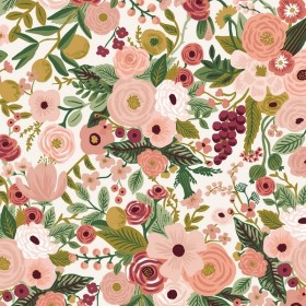 Cotton and Steel - Garden Party - Rose - burgundy
