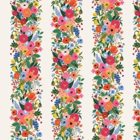 Cotton and Steel - Rifle Paper Co. - Wildwood - Floral Vines - weiss