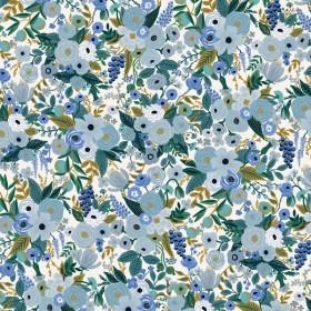Cotton and Steel - Garden Party - Petite Blue - blue