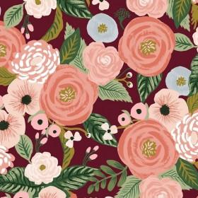Cotton+Steel Canvas - Garden Party - Juliet Rose burgundy
