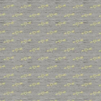 Reststück 134cmx150cm - Glow in the Dark - Pfeile auf hellgraumeliert