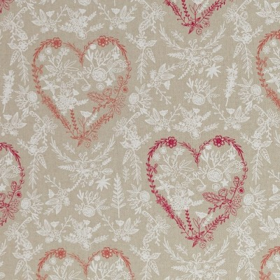 Blüten-Herzen Dekostoff / Canvas Emma - Swafing