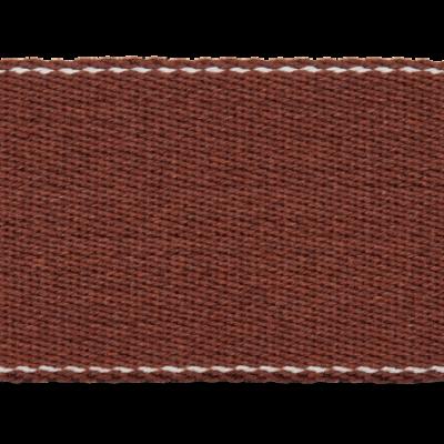 Pinstripe Gurtband 40mm breit - braun