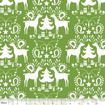 """Blend """"Treelicious"""" - Weihnachtsstöffchen von Maude Asbury grün"""