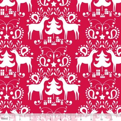 """Blend """"Treelicious"""" - Weihnachtsstöffchen von Maude Asbury rot"""