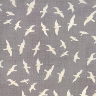 """Seagulls"" grey - Ahoy me hearties - Moda Fabrics"