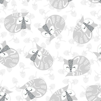 3 Wishes Fabrics - Woodland Jamboree - Foxes