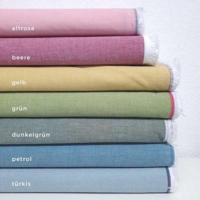 Leichter Baumwollchambray, yarndyed - verschiedene Farben