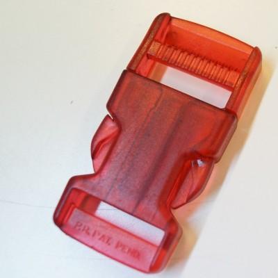 Rucksackschnalle rot 40mm