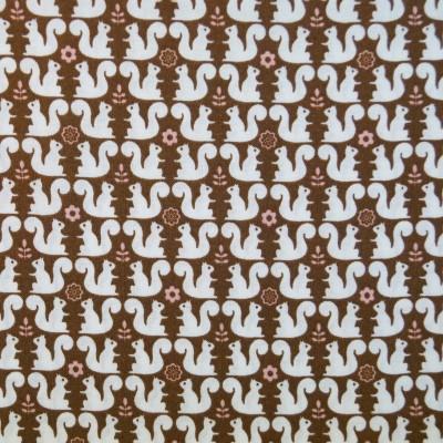 Quarter 50cmx56cm - Eichhörnchen aus Japan auf braun