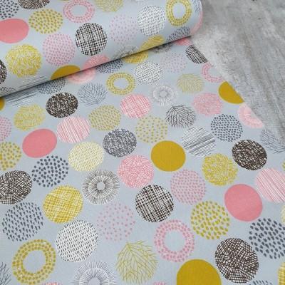 Canvas Small Dots - hellgrau-rosa