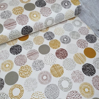 Canvas Small Dots - ecru-braun
