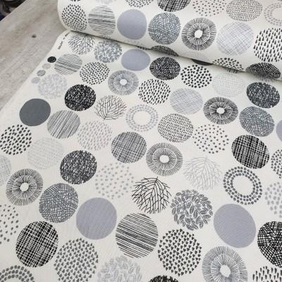 Canvas Small Dots - ecru-grau