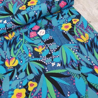 Kobayashi Canvas Jungle Flowers - blue