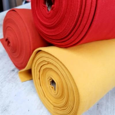 Glattes Bündchen verschiedene Gelb und Rottöne