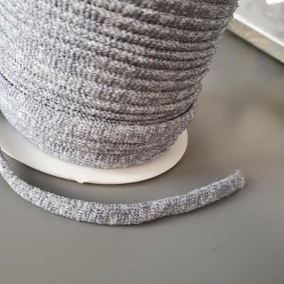 Graumeliertes elastisches Strickband - 5mm