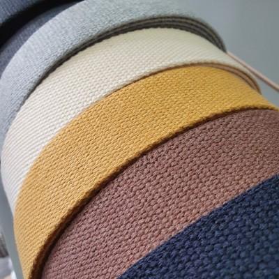 Baumwollgurtband Recycelt - 40mm - verschiedene Farben