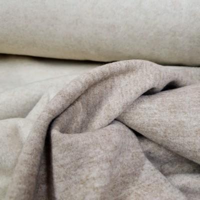 Wolloptik Doubleface - uni ecru/beige